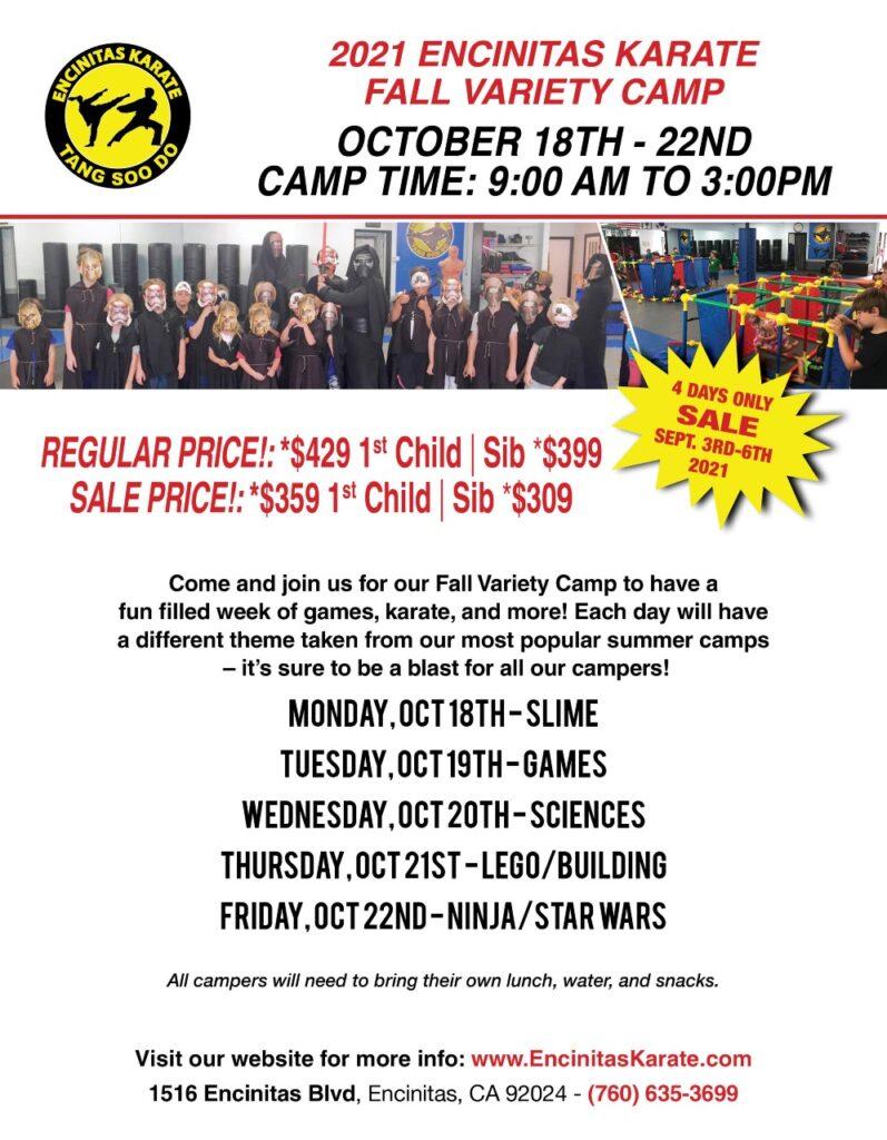 Fall Karate Camp 2021