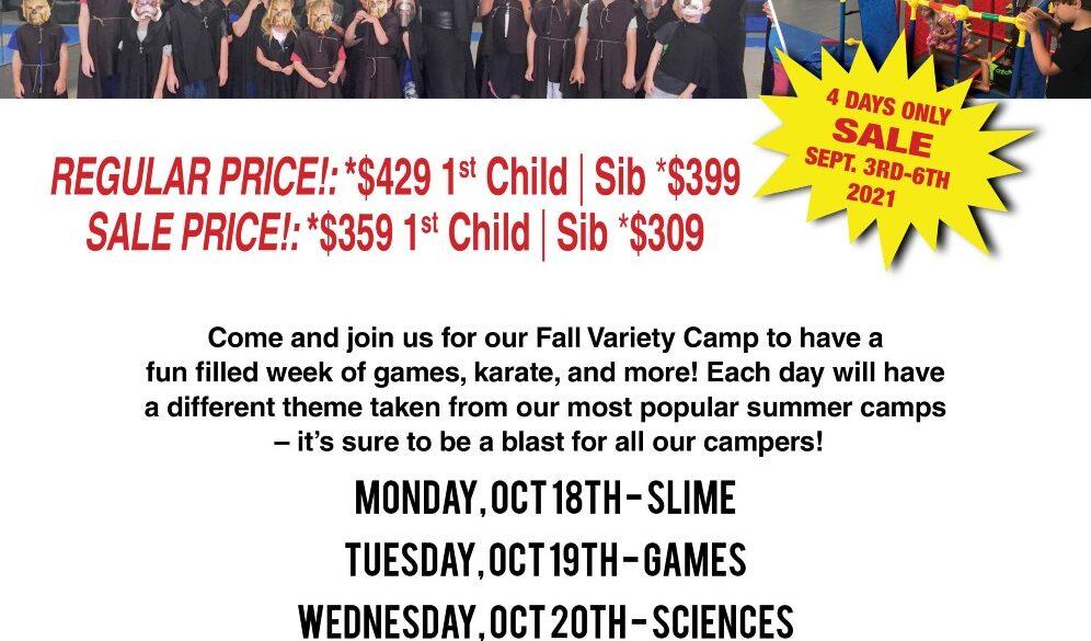 Fall Variety Camp 2021